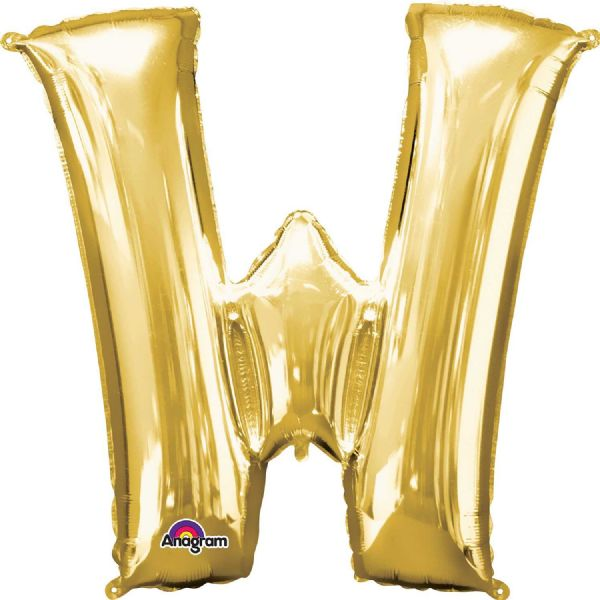 SuperShape Letter W - Gold